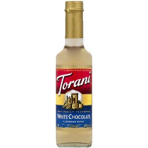 Torani White Chocolate Syrup, 12.7 oz (Pack of 6)