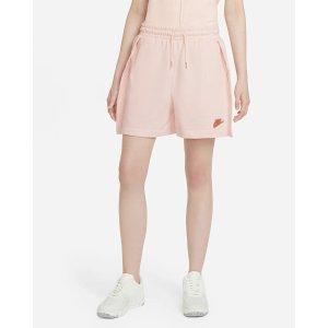 Nike奶油淡粉运动短裤