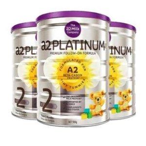 88VIP折后含税¥226/罐澳洲A2婴幼儿配方奶粉2段900g*3罐装 6-12个月