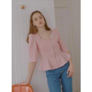VOCAVACA女士格纹上衣2色