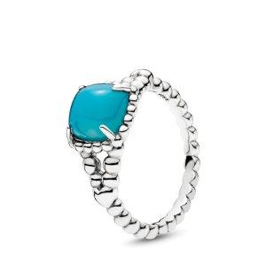 Vibrant Spirit Ring, Scuba Blue Crystal