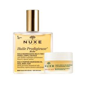 Nuxe万用金油+唇膏