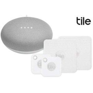 $49.99起 送Google Home MiniTile Mate/Slim/Pro 物品追踪器 四个装