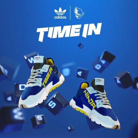 男款€149.95,儿童款€119.95人气游戏主播Ninja与Adidas合作款运动鞋正式发售