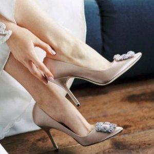 最高立减$350 变相7折Manolo Blahnik 美鞋专场 好价入手经典钻扣鞋