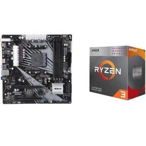 AMD RYZEN 3 3200G APU + ASRock B450M/AC MB