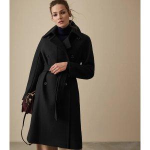 Reiss黑色大衣