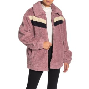 GuessRetro Faux Shearling Teddy Jacket