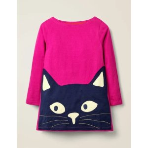 BodenGlow-In-The-Dark Cat Tunic - Pink Yarrow Cat | Boden US