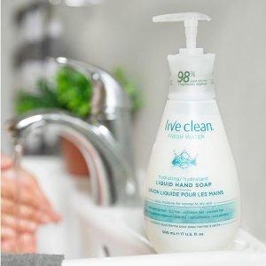 $3.97(原价$4.99) 500L补货:Live Clean 天然健康洗护  多香型 手部温和清洁