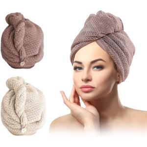 2个仅€12.99 护发必备小物SCOBUTY 干发帽 超细纤维 柔软又吸水 头发不毛躁