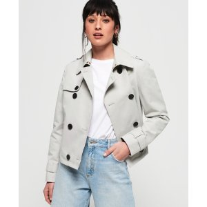 SuperdryCropped Azure Trench Coat