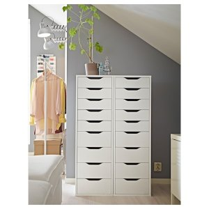 ALEX Drawer unit with 9 drawers - white - IKEA