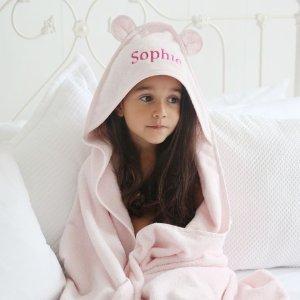 My 1st YearsPersonalized Large Pink Hooded Bath Towel