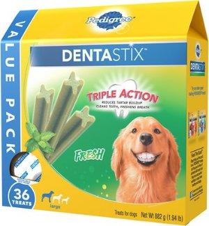 Pedigree Dentastix Large Fresh Dog Treats, 36 count - Chewy.com