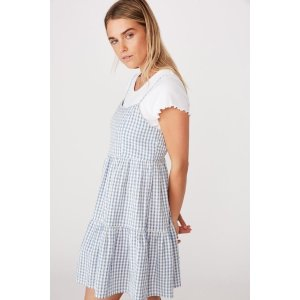 Cotton OnWoven Birdie Tiered Mini Dress