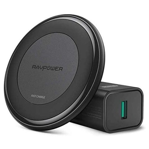 Ending Soon: RAVPower 10W Qi Fast Wireless Charger with QC 3.0 Adapter