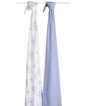 史低价 $9.99(原价$24.99)aden + anais 丝滑柔软包巾 2个装