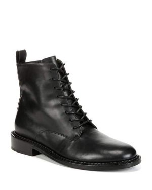 Vince Cabria Leather Lace-Up Boots