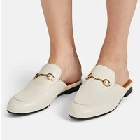 Gucci 皮质拖鞋