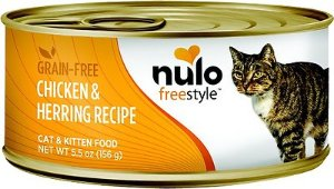 Nulo Freestyle Chicken & Herring Recipe Grain-Free Canned Cat & Kitten Food, 5.5-oz, case of 24 - Chewy.com