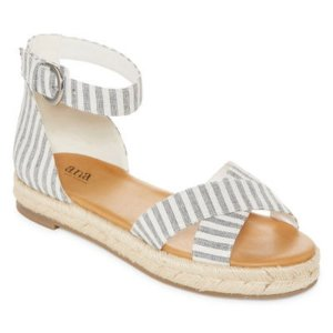 buy 1 get 1 freea.n.a Womens Broome Adjustable Strap Flat Sandals