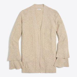 J.CrewTiered ruffle-sleeve cardigan sweater : FactoryWomen cardigans | Factory
