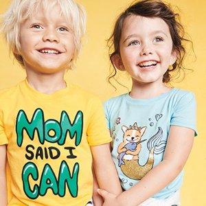 低至$3.99 新款买1送2OshKosh BGosh 儿童T恤全面上新  纯棉原价$14-$16
