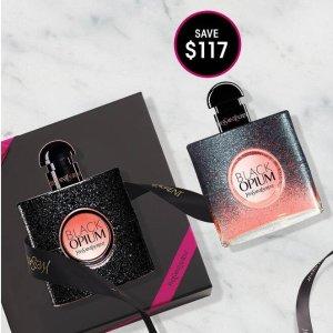 买1送1+送4件套礼包+免邮YSL 经典香水套装折扣入 收斩男鸦片香水、热巴同款翻转巴黎