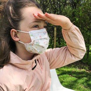 10个€13.14 给宝贝更多健康Nuby 儿童口罩 3层防护 熔喷布夹层 4-12岁适用 质量超级好