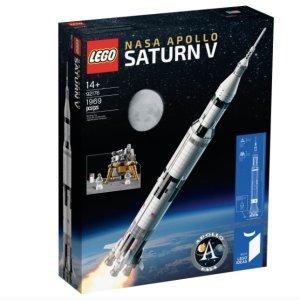 $105.99+叠9折 近期好价LEGO NASA阿波罗土星5号 92176,复刻新品,实物一米高