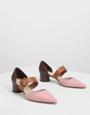 Pink Mary Janes Buckle Pumps | CHARLES & KEITH US