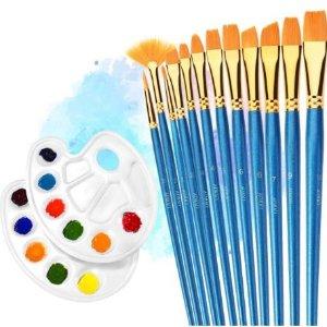 $10.59(原价$16.99)TOPELEK  多用途画笔14件套装 刷毛柔软耐用 来一幅解压小创作