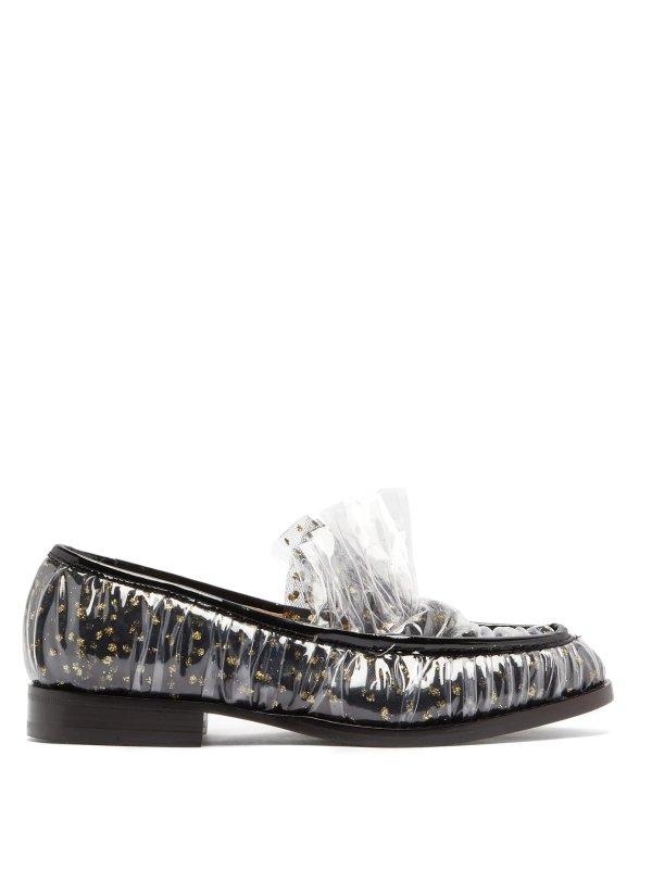 波点乐福鞋