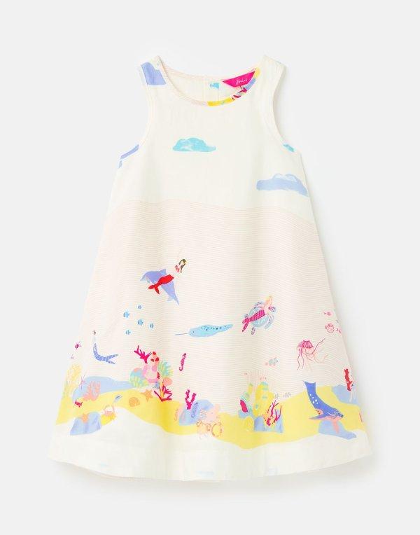 小童印花连衣裙