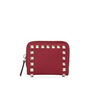 Valentino铆钉小钱包