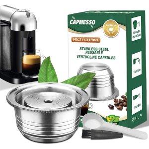 $42.98 口味随心换 环保省钱Nespresso 一次性咖啡胶囊替代品 可循环使用不锈钢胶囊