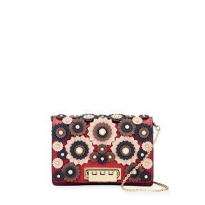Zac Zac PosenEarthette Pearly Studded Floral Leather Crossbody Bag