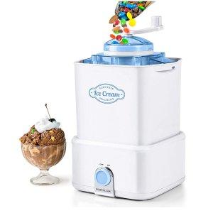 $34.99 (原价$49.99)Nostalgia CICM2WB 2夸脱冰淇淋机