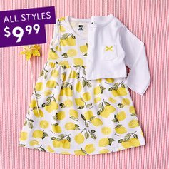 All Styles $9.99Kids Dresses in Packs of 2 Sale @ Zulily