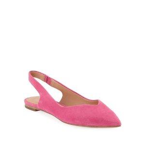 Sigerson Morrison粉色麂皮平底鞋