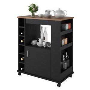 $69Ameriwood Home 厨房多功能滚轮橱柜