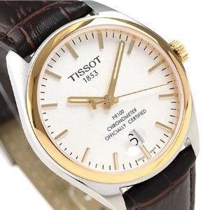 立省$20 $179.99 (原价$575)Tissot PR100 系列玫瑰金色时装男表