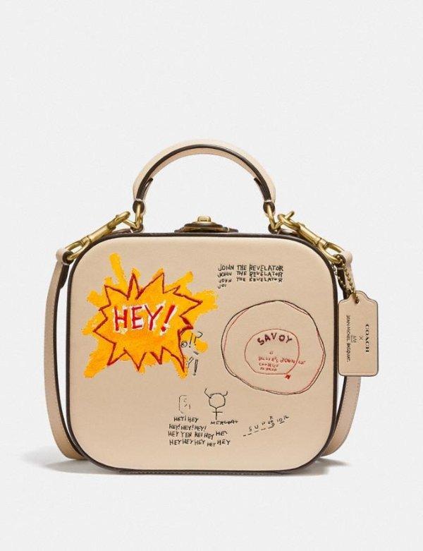X Jean-Michel Basquiat合作款斜挎手提包