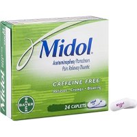 Midol 无咖啡因经痛止痛药 24粒