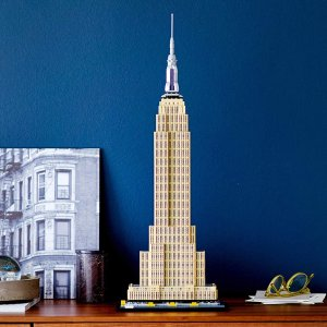 $139.99(原价$159.99)LEGO 纽约帝国大厦 建筑系列1767颗粒大作 必收藏摆件