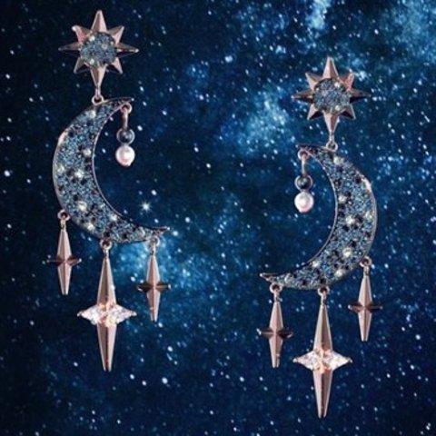 低至5折 £44入耳环Swarovski官网 星月系列 超多甜美气质首饰、耳饰好价