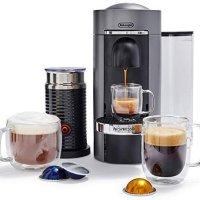 Nespresso by De'Longhi 德龙VertuoPlus 意式胶囊咖啡机+奶泡机
