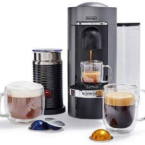 Nespresso 德龙VertuoPlus 意式胶囊咖啡机+奶泡机