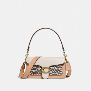 CoachTabby Shoulder Bag 26 in Colorblock With Snakeskin Detail
